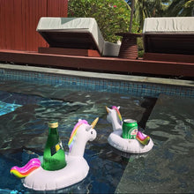 Load image into Gallery viewer, Unicorn Inflatable Floating drink holder Swimming Toy