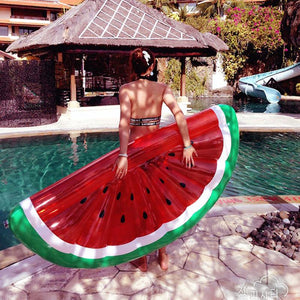 Half Watermelon inflatable floating Swimming Toy