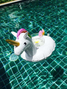 Unicorn Inflatable Floating drink holder Swimming Toy