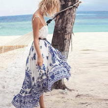 Load image into Gallery viewer, Bohemian Tribal Floral Skirt Knee Lengt Summer Beach Long Casual Skirt