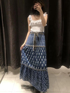 Fashion Boho Printed Beach Skirt