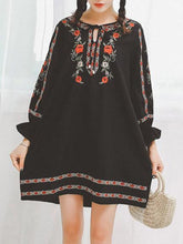 Load image into Gallery viewer, Floral Loose Bohemia Mini Dress