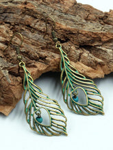 Load image into Gallery viewer, Leaf Pattern Vintage Alloy Earrings Accessories