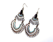 Load image into Gallery viewer, Bohemia Rhinestone & Resins Beads Large Dangling Earrings Jewelry