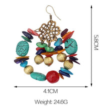 Load image into Gallery viewer, Big Circle Multicolor Boho Beads Drop Earrings Bohemia Jewelry