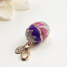 Load image into Gallery viewer, Easter Egg Bunny Charm Women Handbag Zipper Key Chains Moves Pendant For Girl Necklace Jewelry