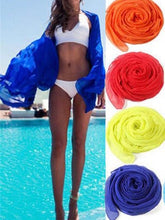 Load image into Gallery viewer, Seven Colors Sexy beach cover up sarong summer bikini cover-ups wrap pareo beach dress skirts towel