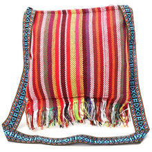 Load image into Gallery viewer, Linen Thai Embroidery Totes Shoulder Tassels National Tibet Floral Soft Bags