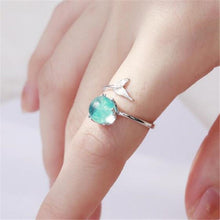 Load image into Gallery viewer, Stylish Design Mermaid Foam Adjustable Women Plating Finger Ring Jewelry