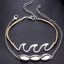 Load image into Gallery viewer, Bohemia Summer Beach Barefoot Shell Wave Pendant Chain Anklets Accessories