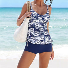 Load image into Gallery viewer, Tankini Two Piece Swimsuit Female Swimming Suit For Women Bathing Suit Printed Swimwear Summer Bathers Beach Wear