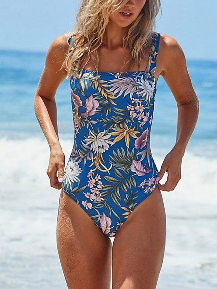 Fit All Print Floral One-Piece Swimsuit