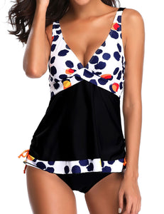 Women Strap Polk Dot Two Piece Swim Bikini Set Bathing Swimsuits