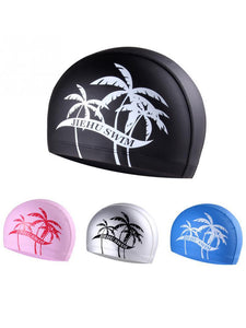 1 Pc Adult Elastic Swimming Air Permeable Hat Soft Bathing Printed Caps Swim Hat