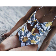 Load image into Gallery viewer, Sexy One Piece Swimsuit Swimwear Women Bodysuit High Waisted Bathing Suit Monokini Swimsuit Push Up