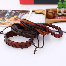 Load image into Gallery viewer, Retro Set Bracelet DIY Braided Rope Leather Bracelets