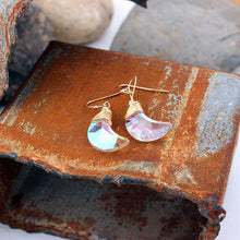 Load image into Gallery viewer, Bling Magic Moon Eardrop Pendant Handmade Wire Earrings