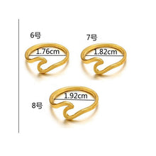 Load image into Gallery viewer, Simple Metal Cross Border Slender Shape Tail Ring
