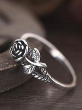Load image into Gallery viewer, Vintage Sweet Simple Rose Solid Metal Ring
