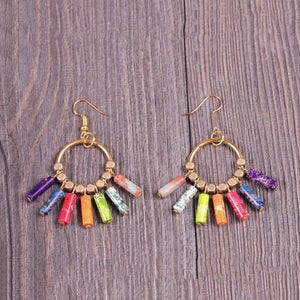 Creative 7 Chakra Colorful Dangle Earrings