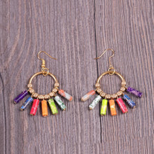 Load image into Gallery viewer, Creative 7 Chakra Colorful Dangle Earrings
