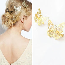 Load image into Gallery viewer, High Quality Fashion Women Hairpins Hollow Gold Color Butterfly Retro Elegant Hair Accessories