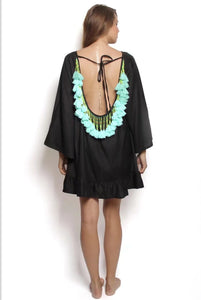 Bohemian Beach Loose Tassel Mini Dress