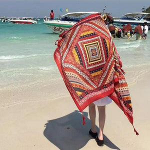 Bohemian Tassel Fashion Vintage Ethnic Cotton Linen Scarf