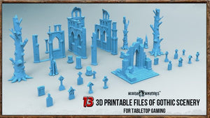 13 3D Printable Gothic Scenery Files for Tabletop Gaming