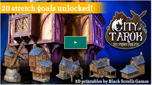 photo about Printable Buildings titled Town of Tarok: 3D printable medieval constructions Haldane