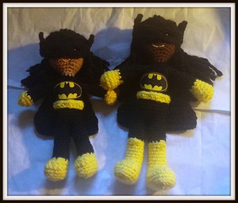 Batgirl Doll | About 10in | NEW | HANDMADE to Look Like You or Gift Recipient