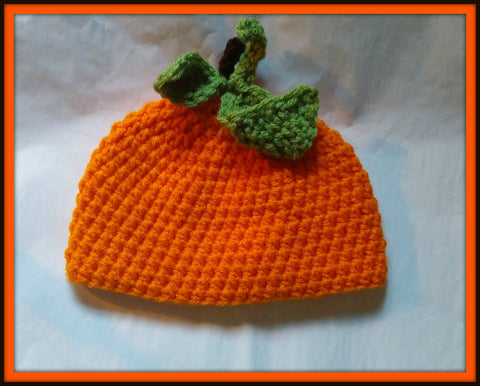 Pumpkin Baby Hat | Baby Toddler Kids Size | NEW | Made For The Size You Need