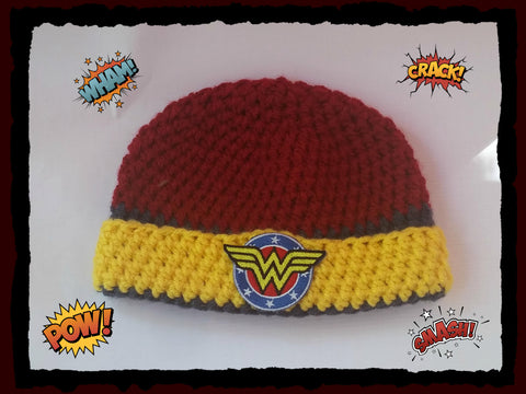 Wonder Woman Baby Hat | Baby Toddler Kids Size | NEW | Made For The Size You Need