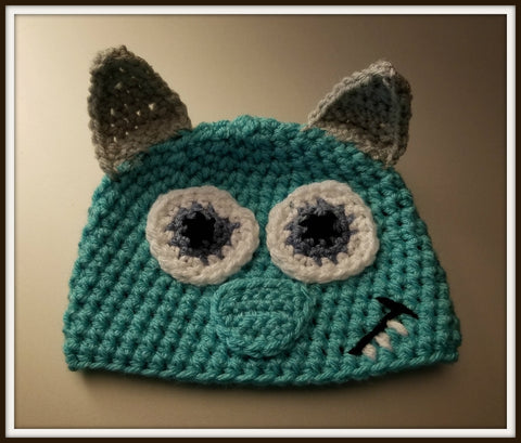 Monster's Inc Sully Baby Hat | Baby Toddler Kids Size | NEW | Made For The Size You Need