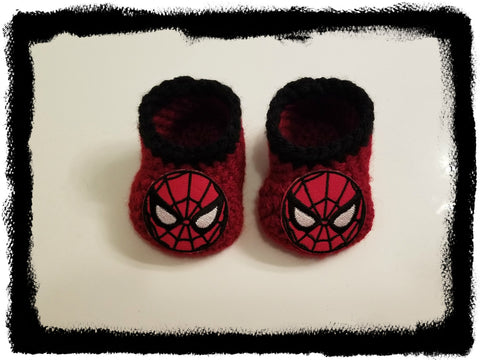 SPIDERMAN Baby Booties | Spiderman Baby Shower Gift | 0-3 months 3-6 months | NEW | Made For The Size You Need