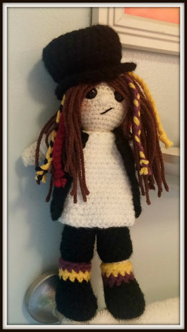 Crochet Amigurumi Boy George Doll Approximately 10 inches tall Handmade to Order Crochet