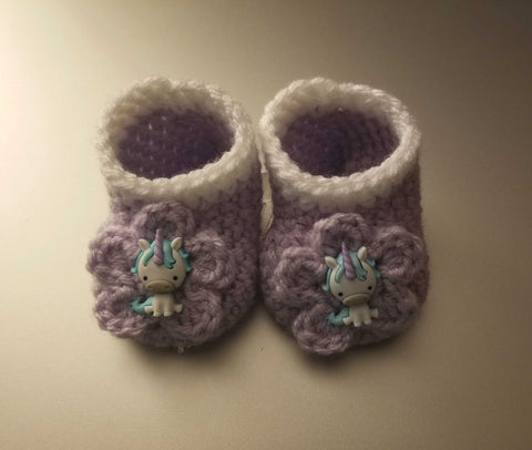 UNICORN Baby Booties | Unicorn Baby Shower Gift | 0-3 months 3-6 months | NEW | Made For The Size You Need