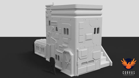 3D Printed Miniatures City 3D Printed Terrain Administration Building