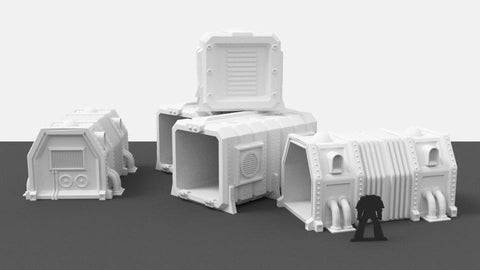 3D Printed Terrain 3D Printed Miniatures Large Cargo Containers