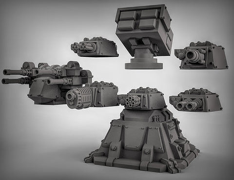 Reserved Listing for Jacob - 3D Printed 28mm Gun Emplacement Set