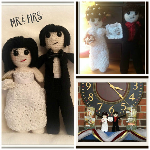 Wedding Couple Doll Set | About 10in | NEW | HANDMADE to Look Like You or Gift Recipient