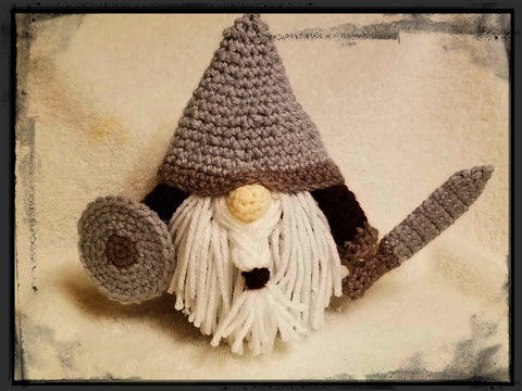 Viking GNOME with Shield & Sword | About 9 1/2 in tall | NEW | HANDMADE to Order