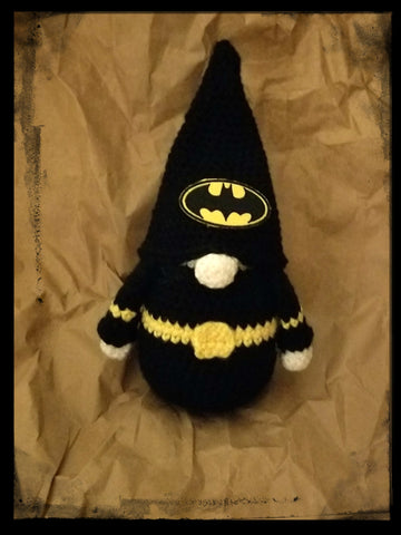 Batman Gnome | Batman Elf | About 9 1/2 inches | NEW | HANDMADE
