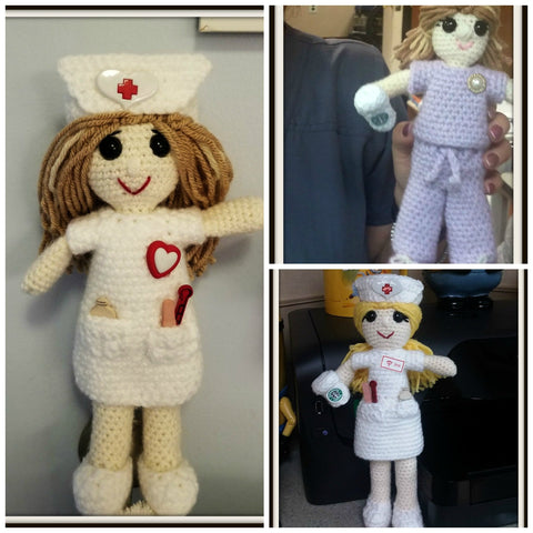 Nurse Doll | About 10in | NEW | HANDMADE to Look Like You or Gift Recipient