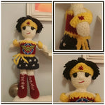 Wonder Woman Doll | About 10in | NEW | HANDMADE to Look Like You or Gift Recipient