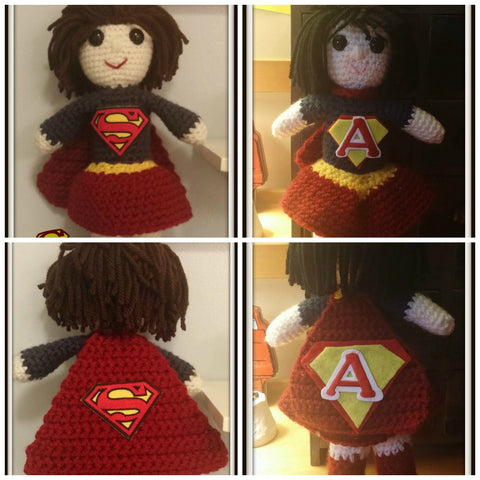 Supergirl Doll | About 10in | NEW | HANDMADE to Look Like You or Gift Recipient