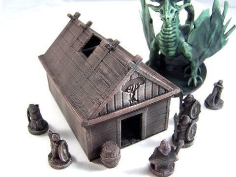 3D Printed Terrain Viking House