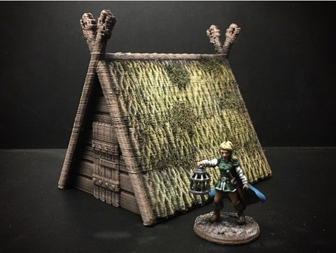 3D Printed Terrain Viking Hut