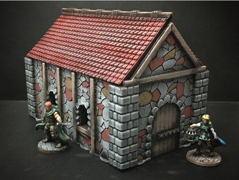 3D Printed Terrain Medieval Cottage