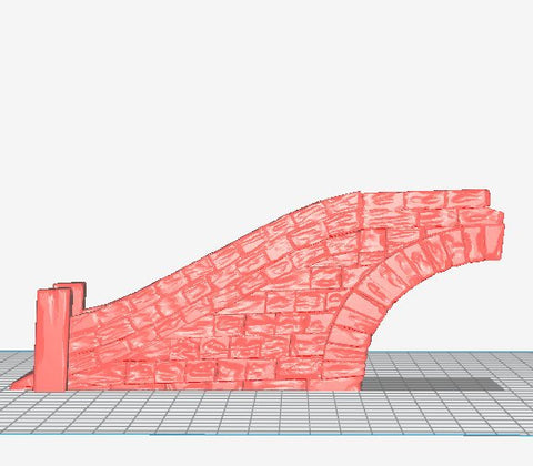 3D Printed Miniatures 3d Printed Terrain Wizard's Tower - Bridge Ramp Section